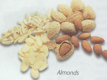 almonds is a hard nut