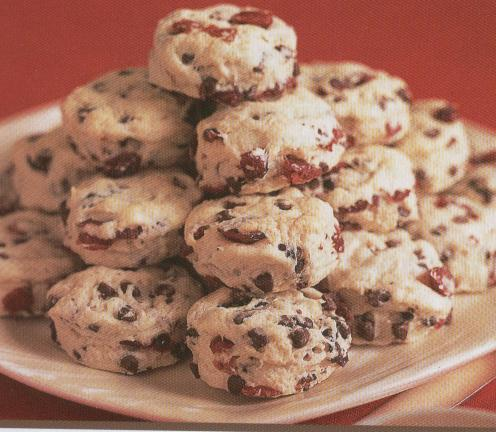 Chocolate Cranberry Biscuits