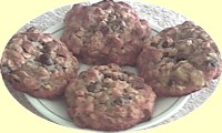 Soft banana-oatmeal chocolate chip cookies