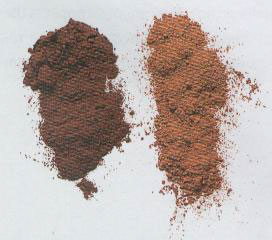two kinds of cocoa powders