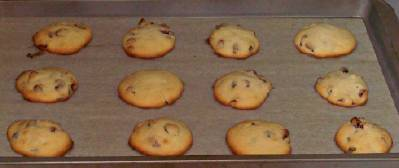 Homemade cookies are just finished baking