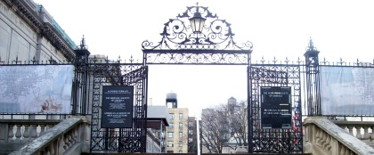A gate leading to the Hispanic Society