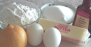 ingredients for Madeleine