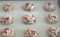 portioning oatmeal cookies dough