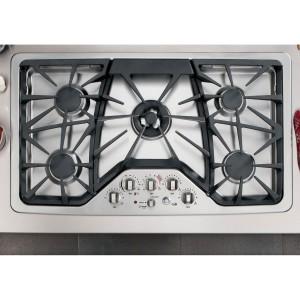 GE CGP650SETSS Cafe 36 Stainless Steel Gas Sealed Burner Cooktop