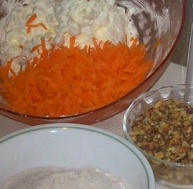 ingredients for carrot cookies