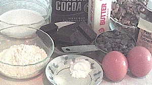 ingredients for true chocolate chip cookies