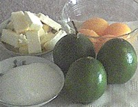 ingredients for lime curd