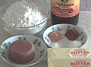ingredients for molasses cookies