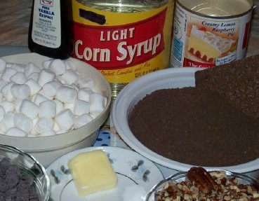 Ingredients for no bake brownies