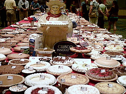 Display table of pies of all flavors