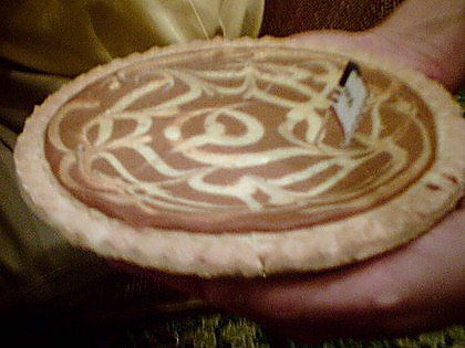 A Cream cheese Pumpkin Pie