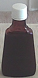 storing bottle for vanilla flavoring