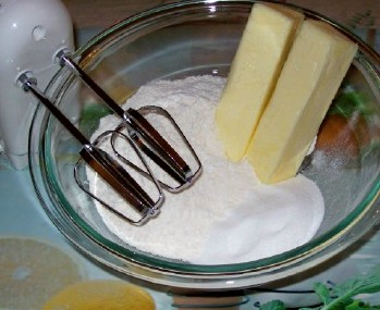 ingredients for whipped shortbread cookies
