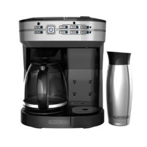 BLACK+DECKER CM6000BDM 2-in-1 Dual Brew & Mug, Silver