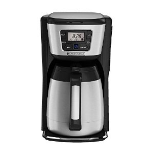 Black & Decker CM2035B 12-Cup Thermal Coffeemaker, BlackSilver