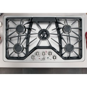 GE CGP650SETSS Cafe 36 Stainless Steel Gas Sealed Burner Cooktop