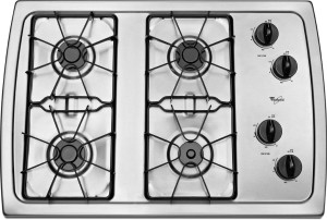 Whirlpool W3CG3014XS 30 Stainless Steel Gas Sealed Burner Cooktop